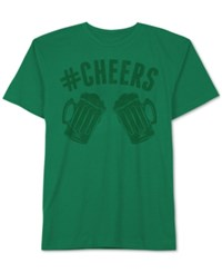 Jem Men's Hashtag Cheers Patty's Day T Shirt Kelly Gree