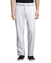 True Religion Big T Wide Leg Sweatpants Optic White Women's