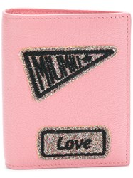 Miu Miu Patches Wallet Pink And Purple