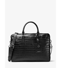 Bryant Large Embossed Leather Briefcase
