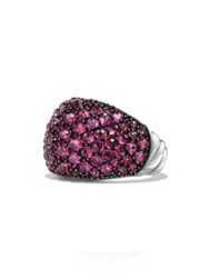David Yurman Osetra Dome Ring With Pave Rubies Ruby