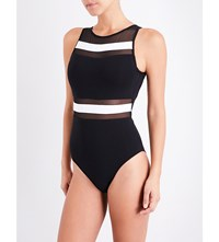 Jets By Jessika Allen Classique High Neck Swimsuit Black White