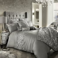 Kylie Minogue At Home Cadence Duvet Cover Silver