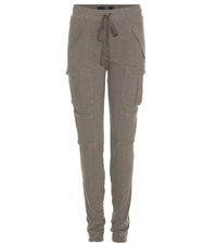 Haider Ackermann Cotton And Wool Blend Track Pants Green