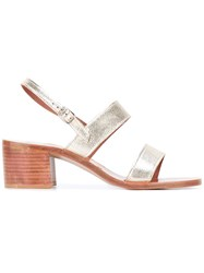 K. Jacques Erasme Chunky Heel Sandals Metallic