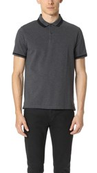 Club Monaco Color Block Trim Polo Shirt Charcoal Multi
