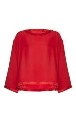 Alexis Mabille Three Quarter Sleeve Blouse Red