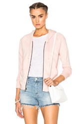 James Perse Classic Zip Hoodie In Pink