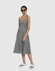 Farrow Gea Gingham Dress In Black Black White
