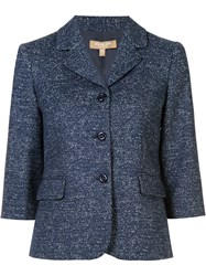 Michael Kors Three Button Blazer Blue