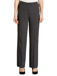 Gardeur City Straight Leg High Rise Trousers Grey