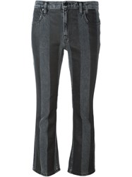 T By Alexander Wang Striped Flared Jeans Black