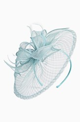 Nordstrom Sinamay Fascinator Headband Blue Green Light Aqua