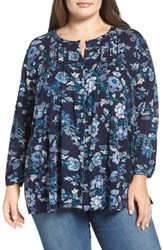 Lucky Brand Plus Size Women's Floral Vines Top