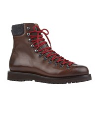 Brunello Cucinelli Leather Hiking Boots Brown