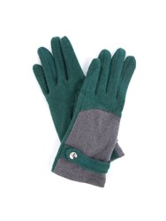 Lavand Woolen Winter Gloves Green