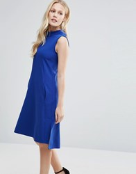Closet London Sleeveless Collared Tunic Dress Cobalt Blue