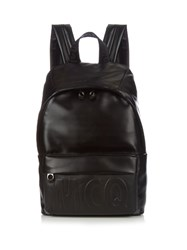 Mcq By Alexander Mcqueen Embossed Logo Leather Backpack Black
