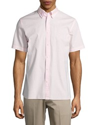 Brooks Brothers Checked Short Sleeved Sportshirt Light Pink