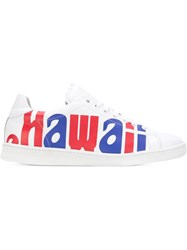 Joshua Sanders Hawaii Print Sneakers White