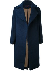 Martin Grant Single Breasted Coat Blue