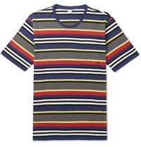 Aspesi Slim Fit Striped Cotton Jersey T Shirt Multi