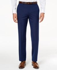 Ryan Seacrest Distinction Men's Ultimate Moves Modern Fit Stretch Solid Suit Pants Created For Macy's Blue
