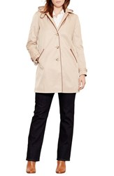 Lauren Ralph Lauren Plus Size Women's Faux Leather Trim Raincoat