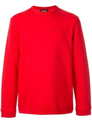 Raf Simons Transformers Print Sweatshirt Red
