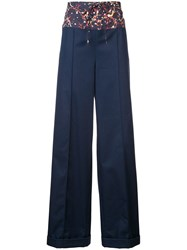 Rosie Assoulin Wide Leg Trousers Blue