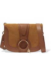 See By Chloe Hana Medium Leather And Suede Shoulder Bag Tan