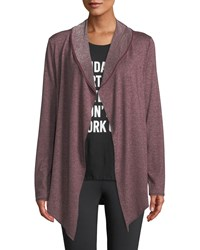 Marc New York Flyaway Space Dye Cardigan Burgundy