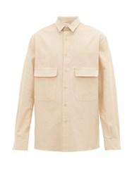 Raey Chest Pocket Brushed Cotton Twill Shirt Light Brown