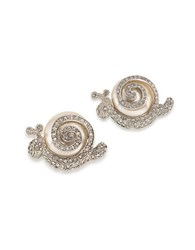 Carolee Snail Pins Set Of 2 White