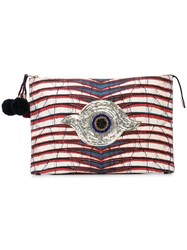 Figue Tala Printed Clutch Neutrals