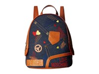 Love Moschino Bag Backpack Denim Backpack Bags Blue
