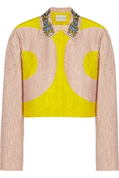 Mary Katrantzou P Two Tone Alphabet Jacquard Jacket