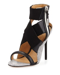 L.A.M.B. Reina Spotted Leather Crisscross Sandal 9 1 2