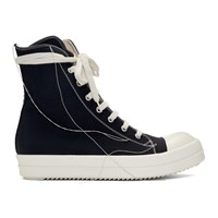 Rick Owens Drkshdw Black 2 Tone Stitch High Top Sneakers