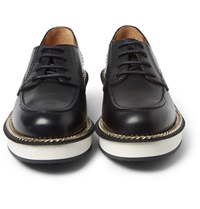 Givenchy Chain Trimmed Leather Derby Shoes