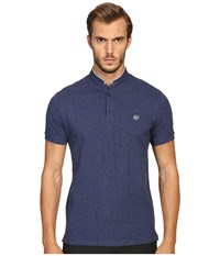 The Kooples Sport Classic Officer Collar Polo Blue