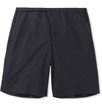 Acne Studios Ari Slim Fit Cotton Shorts Blue