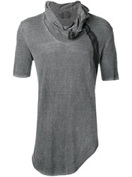 Lost And Found Ria Dunn Hooded T Shirt Grey