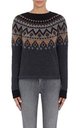 Barneys New York Women's Ski Sweater Dark Grey