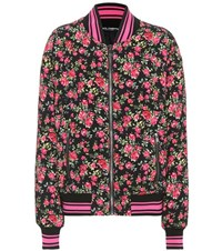 Dolce And Gabbana Floral Printed Bomber Jacket Multicoloured