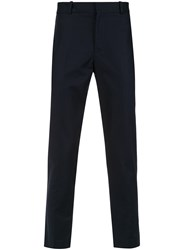 Egrey Tailored Straight Leg Trousers Blue