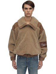 Handle W Freedom Shearling Bomber Jacket Brown