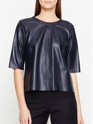 Jigsaw Leather Shell Top Smoke
