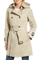 London Fog Trench Coat With Detachable Liner And Hood Stone