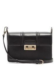 Lanvin Jiji Leather Shoulder Bag Black